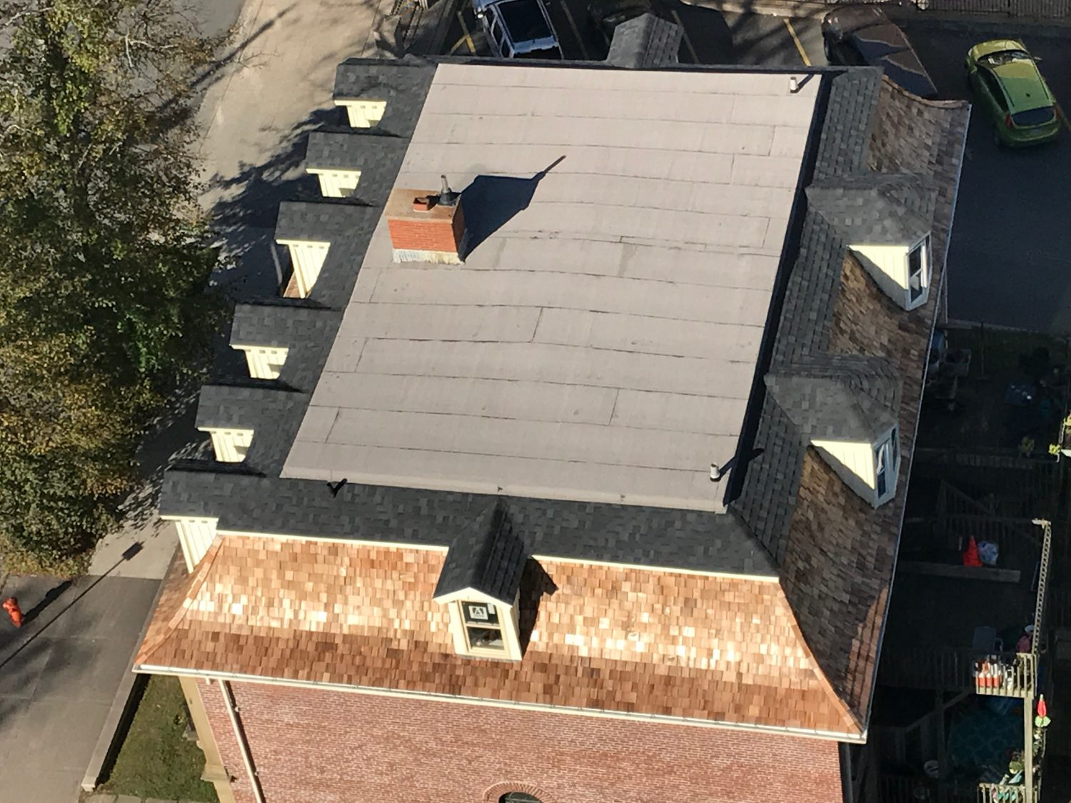 Arial photo of a new roof