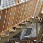 Photo of new outside stairs